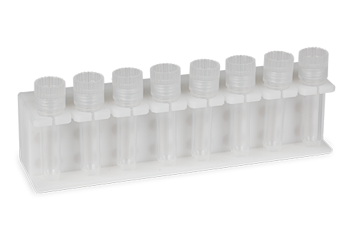 Revolution Magrack and capped microvial tubes@0.1x